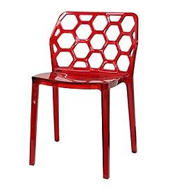 Baxton Studios Honeycomb Acrylic Modern Dining Chair