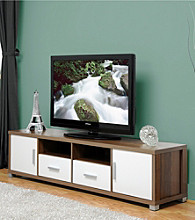 Baxton Studios Chisholm Modern TV Cabinet with White Doors