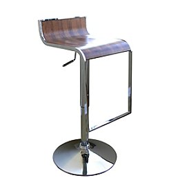 Baxton Studios Dromio Low-Back Adjustable Swivel Bar Stool