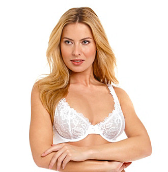 Felina® Lush Lace Full Figure Bra - White
