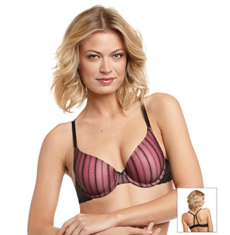 Jezebel Finesse Convertible Underwire T-Shirt Bra - Black/Pink