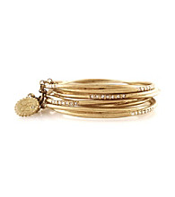 Jessica Simpson Goldtone Bangle Bracelet Set