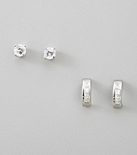 BT-Jeweled Cubic Zirconia Earring Set