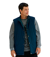True Nation® Men's Big & Tall Navy Reversible Microfiber Vest