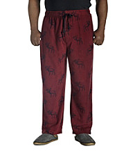 Harbor Bay® Men's Big & Tall Microfleece Print Lounge Pants