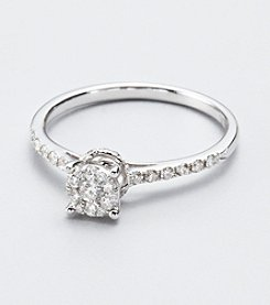 Effy® Bouquet Collection .30 ct.tw. Diamond and 14K White Gold Ring