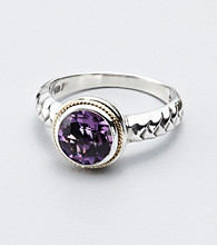 Effy® Amethyst Bezel Set Sterling Silver Ring
