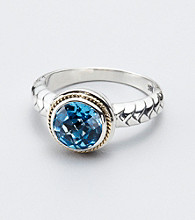 Effy® Blue Topaz Bezel Set Sterling Silver Ring