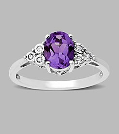 .03 ct.tw.Diamond and Amethyst Ring