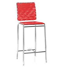 Zuo Modern Set of 2 Criss Cross Counter Stools
