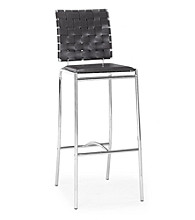 Zuo Modern Set of 2 Criss Cross Barstools