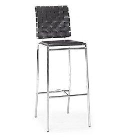 Zuo Modern Set of 2 Criss Cross Barstools