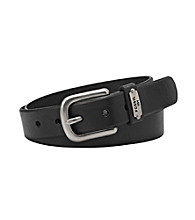 Fossil® Logo Keeper Belt - Black