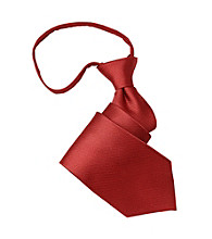 Gold Series™ Men's Big & Tall Red Textured Silk Zipper Tie