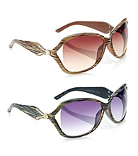 Nine West® Plastic Mod Vented Lens Sunglasses