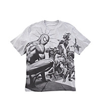 Men's Big & Tall Gray Heather Marvel® Comics Spider-Man Villians Screen Tee