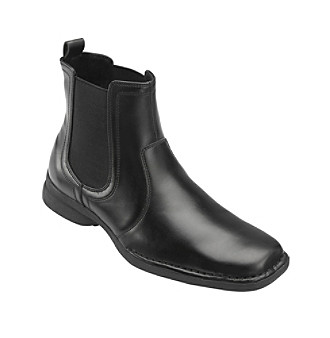 "Unlisted by Kenneth Cole® Men's Big & Tall ""Fire Sign"" Fashion Boot - Black Leather"