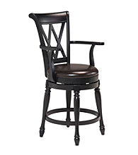 Home Styles® Traditional Swivel Bar Stool Black