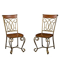 Home Styles® Marseille Set of 2 Dining Chairs Cinnamon