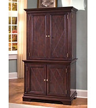 Home Styles® Dover Compact Computer Desk & Hutch Windsor Cherry