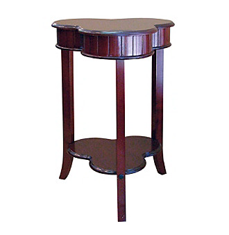 "Ore 28""H Shamrock Living Room End Table - Cherry"