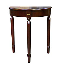 Ore International™ Crescent Cherry End Table