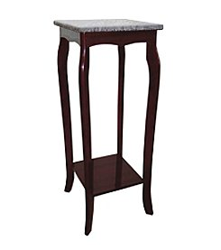 Ore International™ Cherry Phone Table with Marble Top