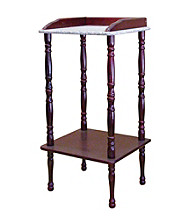 Ore International™ Cherry Phone Table With Marble Top And Border