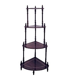 Ore International™ Cherry 4-Tier Corner Stand