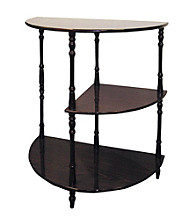 Ore International™ Cherry 3-Tier Half Table