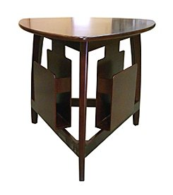 Ore International™ 3-Corner Cherry Magazine Table