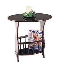 Ore International™ Oval Magazine Table
