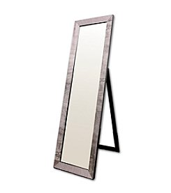 Ore International™ Black Rectangular Floor Mirror with Studs