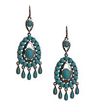 Lucky Brand® Turquoise-Color Stone Chandelier Earrings