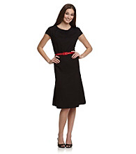 Anne Klein® Black Honeycomb Swing Dress