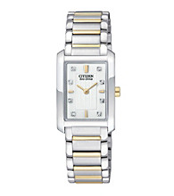 Citizen® Ladies' Eco-Drive Two-Tone Stainless Steel Watch