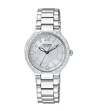 Citizen® Women's Eco-Drive Firenza Stainless Steel Watch with Diamond Bezel