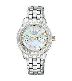Citizen® Women's Eco-Drive Silhouette Crystal Stainless Steel Watch