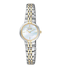 Citizen® Women's Eco-Drive Silhouette Two-Tone Bracelet Watch