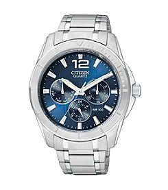 Citizen® Men's Stainless Steel Watch with Blue Dial