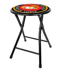 United States Marine Corps 18 Inch Black Folding Stool