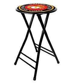 United States Marine Corps 24 Inch Cushioned Folding Stool