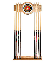 United States Marine Corps Billiard Cue Rack with Mirror