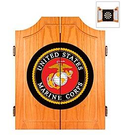 United States Marine Corps Wood Dart Cabinet Set