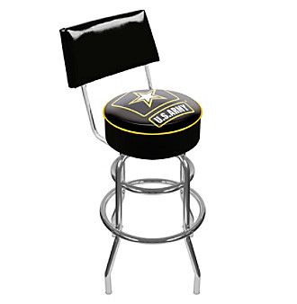 U.S. Army Padded Swivel Bar Stool with Back