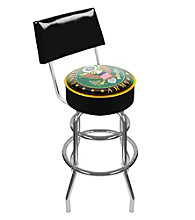 U.S. Army Symbol Padded Swivel Bar Stool with Back