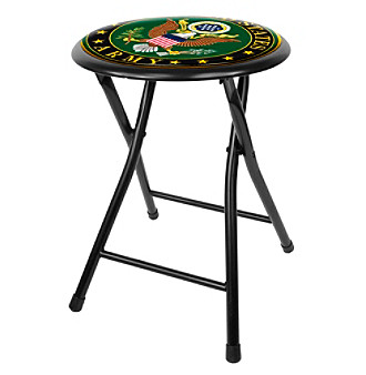 "U.S. Army Symbol 18"" Folding Stool - Black"