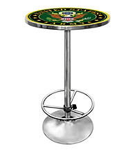 U.S. Army Symbol Chrome Pub Table
