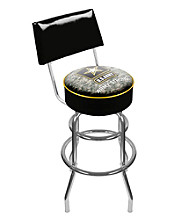 U.S. Army Digital Camo Padded Swivel Bar Stool with Back