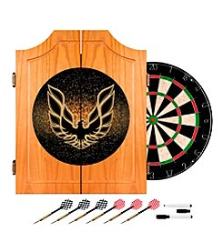 Pontiac Firebird Black Wood Dart Cabinet Set